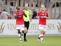 Fotball <br /> Adeccoligaen<br /> Gjemselunden Stadion <br /> 01.09.2013<br /> Kongsvinger  v Kristiansund <br /> Foto: Dagfinn Limoseth, Digitalsport<br /> Emile Noe Dadjo , Kongsvinger feirer sin scoring
