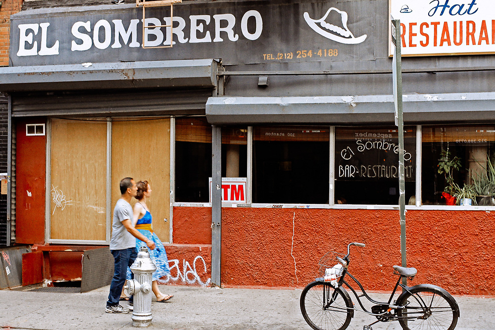 El Sombrero restaurant Stanton St Lower east side nyc. 2011<br />  Doesn't look like this anymore (2018)