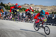 #159 during practice at the 2018 UCI BMX World Championships in Baku, Azerbaijan.