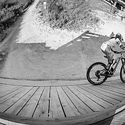 Heather Goodrich rides the Singletrack and features at Jackson Hole Mountain Resort.