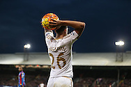 Kyle Naughton of Swansea City taking a throw in. Barclays Premier League match, Crystal Palace v Swansea city at Selhurst Park in London on Monday 28th December 2015.<br /> pic by John Patrick Fletcher, Andrew Orchard sports photography.