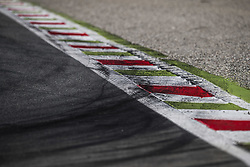 September 3, 2017 - Monza, Italy - Motorsports: FIA Formula One World Championship 2017, Grand Prix of Italy, ..Bremsspur, Bremsspuren, Strecke, Gummi, Spur, Reifenspuren, Reifenspur, Streifen, Asphalt, Abrieb, Gummi, marks, curb, curbs  (Credit Image: © Hoch Zwei via ZUMA Wire)
