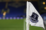 a General view of one of the Everton corner flags. Barclays Premier League match, Everton v Newcastle United at Goodison Park in Liverpool on Wednesday 3rd February 2016.<br /> pic by Chris Stading, Andrew Orchard sports photography.