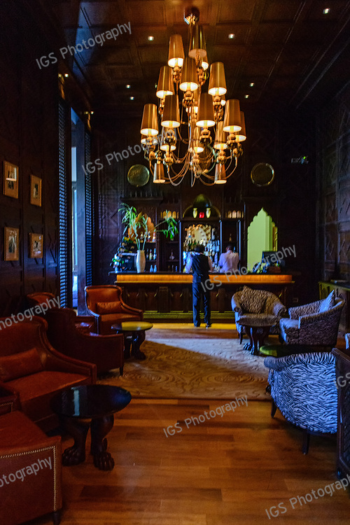 The Bar - the elegant Egyptian style English Piano bar in the Old Cataract Hotel in Aswan