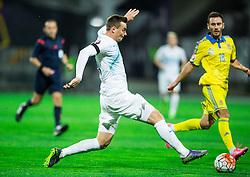 Nejc Pecnik (SLO) vs Serhiy Rybalka (UKR) during the UEFA EURO 2016 Play-off for Final Tournament, Second leg between Slovenia and Ukraine, on November 17, 2015 in Stadium Ljudski vrt, Maribor, Slovenia. Photo by Vid Ponikvar / Sportida