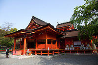 47. Fujisan Hongu Sengen Taisha 富士山本宮浅間大社 is well known as the headquarters of over 1,300 Sengen shrines across Japan.  The object of worship at this shrine is Mt. Fuji - the highest mountain in Japan and still believed to be sacred. People venerate this shrine as a guardian deity for disaster prevention, navigation, fishing, agriculture and weaving.