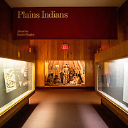 Plains Indians exhibit at the Museum of Natural History in New York's Upper West Side neighborhood, adjacent to Central Park.