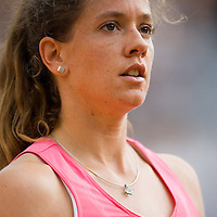 03 June 2007: Swiss player Patty Schnyder is seen during the French Tennis Open fourth round match, won 3-6, 6-4, 9-7 by Maria Sharapova against Patty Schnyder, on day 8 at Roland Garros, in Paris, France.