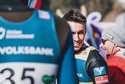 15.02.2020, Kulm, Bad Mitterndorf, AUT, FIS Ski Flug Weltcup, Kulm, Herren, im Bild Stefan Kraft (AUT) // Stefan Kraft of Austria during his Jump for the men's FIS Ski Flying World Cup at the Kulm in Bad Mitterndorf, Austria on 2020/02/15. EXPA Pictures © 2020, PhotoCredit: EXPA/ JFK