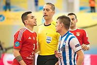Benfica's Bruno Coelho and Pescara's Adolfo Salas during UEFA Futsal Cup 2015/2016 3º/4º place match. April 22,2016. (ALTERPHOTOS/Acero)