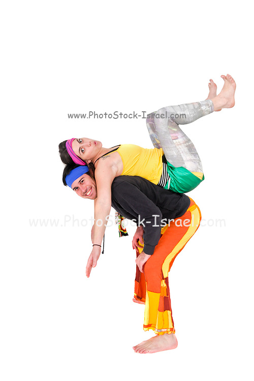 Balance - two acrobats balancing on each other