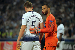 September 18, 2018 - Milan, Milan, Italy - Jan Vertonghen #5 of Tottenham Hotspur and Michel Vorm #13 of Tottenham Hotspur during  the UEFA Champions League group B match between FC Internazionale and Tottenham Hotspur at Stadio Giuseppe Meazza on September 18, 2018 in Milan, Italy. (Credit Image: © Giuseppe Cottini/NurPhoto/ZUMA Press)