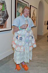 GRAYSON PERRY at a private view of photographs by David Bailey entitled 'Bailey's Stardust' at the National Portrait Gallery, St.Martin's Place, London on 3rd February 2014.