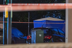 © Licensed to London News Pictures. 08/09/2019. London, UK. A forensic tent set up on Venner Road after a man was shot dead.<br /> Metropolitan Police were called to reports of suspicious activity in Sydenham Road, Lewisham. Shots were subsequently heard and firearms officers were also called to the scene along with the London Ambulance Service. A man in his 20s was found with gunshot wounds. He died at the scene at 15:50BST. Photo credit: Peter Manning/LNP