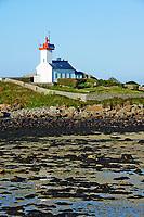 France, Finistère (29), Plouguerneau, l'Aber Wrac'h, phare de l'île Wrac'h // France, Briitany, Finistere, Plouguerneau, Wrac'h island light house