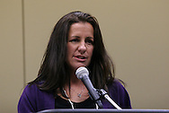 15 January 2009: 2009 National Soccer Hall of Fame player electee Joy Fawcett. The election announcement press conference was held at the Convention Center in St. Louis, Missouri in conjuction with the National Soccer Coaches Association of America's annual convention.