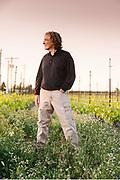 Portrait of Steve Robertson of Delmas Wines at SJR vineyards in Milton Freewater, Oregon.