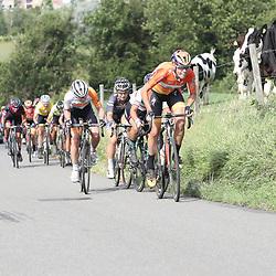 04-09-2016: Wielrennen: Ladies Tour: Valkenburg<br />VALKENBURG (NED) wielrennen  <br />Ellen van Dijk vooert de forcing op de Keutenberg