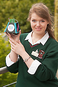 01/05/2015  Laura Karaliute from St Leo's Carlow with Sassy her robot at the  Irish Robotics Championship where over 450 second level students competed for the coveted trophy supported by  EA Games. Photo:Andrew Downes: XPOSURE