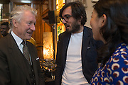 ROGER ORF; EFE CAKAREL; YUKO CAKAREL, Charles Finch, Efe Cakarel & Hikari Yokoyama celebrate  Mubi with Doug Aitken.  Maison Assouline. Piccadilly. London. 25 June 2015