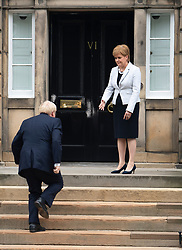 Edinburgh, Scotland, UK. 29 July 2019. Prime Minister Boris Johnson meets Scotland's First Minister Nicola Sturgeon at Bute House in Edinburgh on his visit to Scotland.