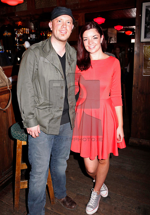 Ryan Sheridan and Jennifer O'Brien pictured at the launch of Arthur's Day 2011. Pic Andres Poveda CPR