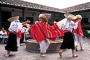 ECUADOR, HIGHLANDS Hacienda Chorlavi folk dancers