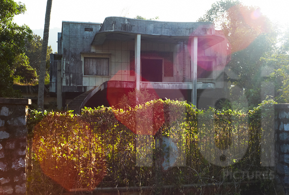 An abandoned decaying house in Kep,<br /> Cambodia, Southeast Asia