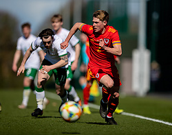 WREXHAM, WALES - Friday, March 26, 2021: Wales' Fin Stevens during an Under-21 international friendly match between Wales and Republic of Ireland at Colliers Park. Republic of Ireland won 2-1. (Pic by David Rawcliffe/Propaganda)