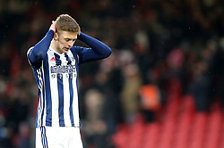 West Bromwich Albion's Sam Field appears dejected after the final whistle during the Premier League match at the Vitality Stadium, Bournemouth.