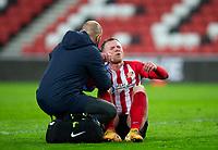 ootball - 2020 / 2021 Sky Bet League One - Sunderland vs Blackpool - Stadium of Light<br /> <br /> Aiden O'Brien of Sunderland receives treatment <br /> <br /> Credit: COLORSPORT/BRUCE WHITE