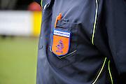Nederland, Nijmegen, 3-6-2012Scheidsrechter bij voetbal met embleem van de knvb.Foto: Flip Franssen/Hollandse Hoogte