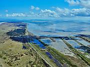 Nederland, Friesland, Vlieland, 07-05-2021; West-Vlieland met Kroon's Polders. De voormalige polders zijn nu natuurgebied en in beheer bij Staatsbosbeheer. Vogelbroedgebied, brak water milieu. Waddenzee.<br /> West Vlieland with Kroon's Polders. The former polders are now a nature reserve and managed by the Forestry Commission. Bird nesting area, brackish water environment.<br /> <br /> luchtfoto (toeslag op standard tarieven);<br /> aerial photo (additional fee required)<br /> copyright © 2021 foto/photo Siebe Swart