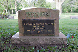31 August 2017:   Veterans graves in Dawson Cemetery in eastern McLean County.<br /> <br /> Raymond Dwight Fowler  Private First Class  World War II  May 16, 1921  Dec 22 2011