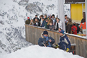 Children and Adult ski race in aid of the Knights of Malta,  Furtschellas. St. Moritz, Switzerland. 23 January 2009 *** Local Caption *** -DO NOT ARCHIVE-© Copyright Photograph by Dafydd Jones. 248 Clapham Rd. London SW9 0PZ. Tel 0207 820 0771. www.dafjones.com.<br /> Children and Adult ski race in aid of the Knights of Malta,  Furtschellas. St. Moritz, Switzerland. 23 January 2009