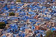 The Brahman Blue City, Brahmpuri area, of Jodhpur in Rajasthan, Northern India