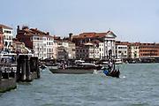 The Riva degli Schiavoni is a wide promenade along the waterfront in Venice, Italy.