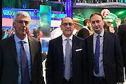 Stefano Santini, Egidio Bianchi e Marco Borroni, Presentazione POSTEMOBILE Final Eight 2017 - Rimini 16-19 fabbraio 2017 - studi RAI, Milano 23 gennaio 2017