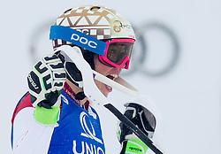 29.12.2014, Hohe Mut, Kühtai, AUT, FIS Ski Weltcup, Kühtai, Slalom, Damen, 2. Durchgang, im Bild Michelle Gisin (SUI) // Michelle Gisin of Switzerland reacts after 2nd run of Ladies Giant Slalom of the Kuehtai FIS Ski Alpine World Cup at the Hohe Mut Course in Kuehtai, Austria on 2014/12/29. EXPA Pictures © 2014, PhotoCredit: EXPA/ JFK