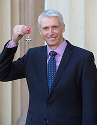 December 13, 2018 - London, London, United Kingdom - Image licensed to i-Images Picture Agency. 13/12/2018. London, United Kingdom. Cricketer Steven Elworthy with his award after an Investiture at Buckingham Palace in London. (Credit Image: © Stephen Lock/i-Images via ZUMA Press)