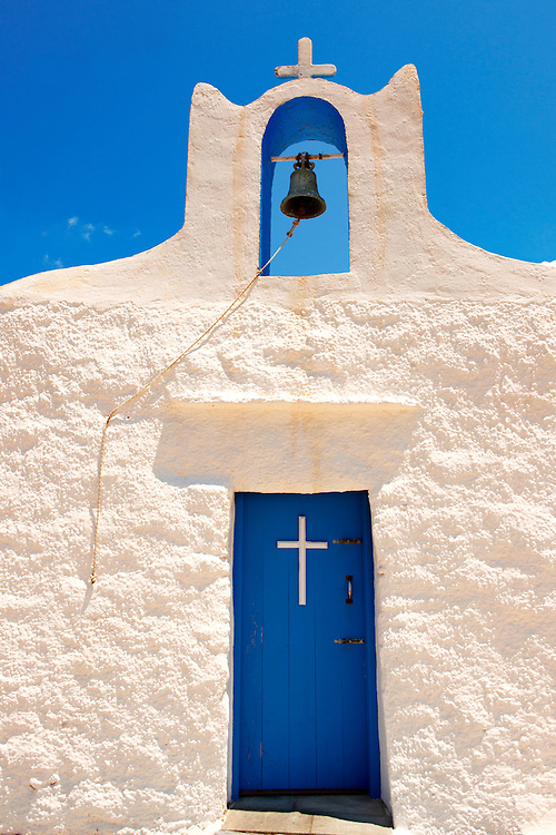 One of the 365 traditional white Orthodox chaples on Ios, Cylades Islands, Greece .<br /> <br /> Visit our GREEK HISTORIC PLACES PHOTO COLLECTIONS for more photos to download or buy as wall art prints https://funkystock.photoshelter.com/gallery-collection/Pictures-Images-of-Greece-Photos-of-Greek-Historic-Landmark-Sites/C0000w6e8OkknEb8