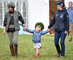 Members of The Royal Family attend the Whatley Manor Horse Trials at Gatcombe Park, Minchinhampton, Gloucestershire, UK, on the 8th September 2017. 08 Sep 2017 Pictured: Princess Anne, Princess Royal, Mia Tindall, Zara Tindall. Photo credit: James Whatling / MEGA TheMegaAgency.com +1 888 505 6342