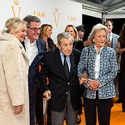 NLD/Katwijk/20191030 - 9 jaar Soldaat van Oranje, Edwin de Vries met partner Monique van de Ven en Engelandvaarder Eddy Jonker met partner