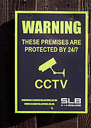 Warning premises protected by CCTV sign, UK