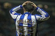 Ross Wallace (Sheffield Wednesday) holds his head as a chance is missed to take the lead during the Sky Bet Championship match between Sheffield Wednesday and Queens Park Rangers at Hillsborough, Sheffield, England on 23 February 2016. Photo by Mark P Doherty.