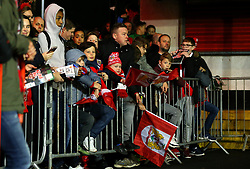 Bristol City fans outside Ashton Gate ahead of the Carabao Cup tie with Manchester United - Mandatory by-line: Robbie Stephenson/JMP - 20/12/2017 - FOOTBALL - Ashton Gate Stadium - Bristol, England - Bristol City v Manchester United - Carabao Cup Quarter Final