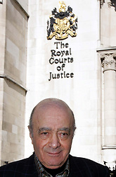 Harrods boss Mohamed al Fayed speaks to the press outside the High Court on the Strand, London after winning an extraordinary victory over the way the inquests into the deaths of his son Dodi and Diana, Princess of Wales are to be conducted.