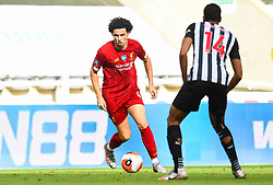 LIVERPOOL, ENGLAND - Sunday, July 26, 2020: Liverpool's substitute Curtis Jones during the final match of the FA Premier League season between Newcastle United FC and Liverpool FC at St. James' Park. The game was played behind closed doors due to the UK government's social distancing laws during the Coronavirus COVID-19 Pandemic. Liverpool won 3-1 and finished the season as Champions on 99 points. (Pic by Propaganda)