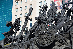 September 17, 2016 - Warsaw, Poland - Monument to the Fallen and Murdered in the East during the Anniversary of Soviet invasion of Poland on 1939 in Warsaw, Poland on 17 September 2016  (Credit Image: © Mateusz Wlodarczyk/NurPhoto via ZUMA Press)