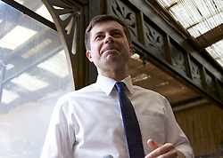 March 22, 2019 - New York, New York, U.S - Mayor PETE BUTTIGIEG of South Bend, Indiana, who has formed a Presidential Exploratory Committee, speaks to an enthusiastic crowd of supporters at a campaign fundraiser held at The Park in New York City. (Credit Image: © Staton Rabin/ZUMA Wire)